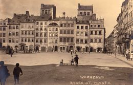 WARSZAWA / VARSOVIE / WARSAW : RYNEK STAREGO MIASTA / OLD TOWN MARKET - CARTE VRAIE PHOTO / REAL PHOTO POSTCARD (w-805) - Poland