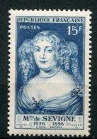 5131 - FRANCE  N° 874 **      15f   Bleu Clair : Madame De Sévigné Par Nanteuil     1950   TTB - Neufs