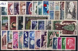 FR-C67 - FRANCE Année Complète Neuve** 1er Choix 1967 - 1960-1969