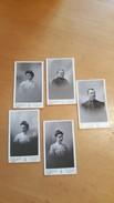 Lot De 5 Photos - CDV - Divers - Photographe Ets Belval (ancienne Maison Cistac) Reims. Très Bon état. - Anciennes (Av. 1900)