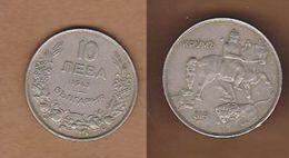 AC - BULGARIA 10 LEVA 1940 BORIS III 1918 - 1943 KM#40 - Bulgaria