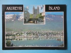 Islanda - Akureyri - Vedute - Francobollo 1992 Stamp Day: Post Cars - Citroen Snowmobile 30 Kr - Islanda
