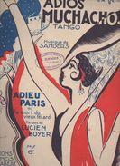 Partition Grand Format  :Adios Muchachos ( Dessin De R De Valerio) 1929 (MPA D 071) - Partitions Musicales Anciennes