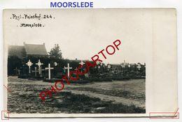 MOORSLEDE-Cimetiere Militaire-CARTE PHOTO Allemande-Guerre 14-18-1 WK-BELGIEN-Flandern- - Moorslede