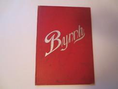 Porte - Menu De Bistrot Publicitaire Ancien * Byrrh * - Andere Sammlungen