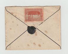 LSC - Cachet De Cire Au Dos - Vignette Exposition 1897 - YT 60 -25c Bleu - Cachet BRUXELLES DEPART - 1894-1896 Exhibitions