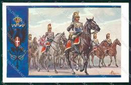 Militari Carabinieri Corazzieri Del Re Cenni Cartolina XF6285 - Other