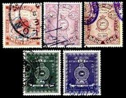 CEYLON, Revenues, B&H 14, 19-20, 25-26, Used, F/VF, Cat. £ 14 - Ceylan (...-1947)