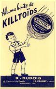 Buvard Killtoïds, Réglisse Pur Menthol. R.Dubois - Le Vésinet. - Sucreries & Gâteaux