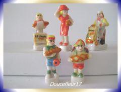 Pain Au Quotidien... Lot De 5 Fèves.. Ref AFF : 73-1999...(pan 0038) - Personnages
