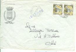 CITTA DI MODIGLIANA (FORLI)- LOGO - CASTELLI £.170+170, 1985,TIMBRO POSTE MODIGLIANA,STORIA POSTALE > TEMATICA  COMUNI - 6. 1946-.. Repubblica
