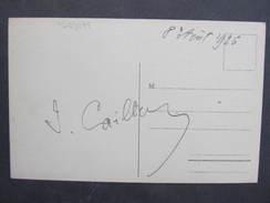 AK Joseph Caillaux Président Du Conseil Des Ministres Français 1926 RRR! Original//// D*27915 - Autogramme & Autographen