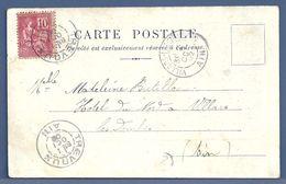 CPA - VILLARS-LES-DOMBES / TREVOUX (AIN) Sur Carte Postale JEUNE FEMME - 1877-1920: Periodo Semi Moderno