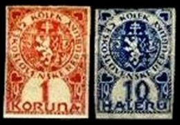 CZECHOSLOVAKIA, Revenues, (*)/* MNG/MLH, F/VF - Tchécoslovaquie