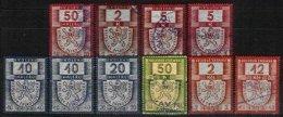 CZECHOSLOVAKIA, Revenues, Used, F/VF - Tchécoslovaquie