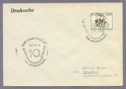 DDR Germany 1964 Cover Brief Tag Der Briefmarke Bezirks Briefmarkentauschtag Sonderstempel Karl Marx Stadt - Filatelistische Tentoonstellingen