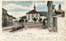 CPA - SAALES (67) - Aspect De La Place De La Mairie En 1902 - Autres Communes