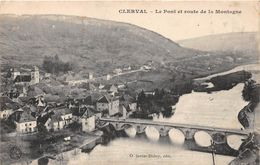 CLERVAL - Le Pont Et Route De La Montagne - Autres Communes