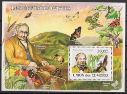 Comores - 2009 - Bloc BF N°Yv. 137 - Papillons - Neuf Luxe ** / MNH / Postfrisch - Cote YT 21€ - Schmetterlinge