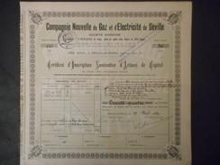 GAZ Et ELECTRICITE De DEVILLE 1932 Deville Les ROUEN Rue Aux Juifs - Electricity & Gas