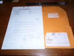Courrier Et Enveloppe Montre Cortebert Juillard Bienne 1969 - Zonder Classificatie