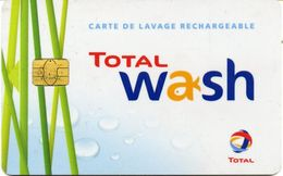 @+ Carte De Lavage TOTAL Wash Rechargeable 850 Stations - France - Frankrijk
