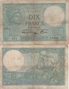 "FRANCE   10 Francs   P73   ""Minerva""    Various Dates  From 1916-1942 - 10 F 1916-1942 ''Minerve''"