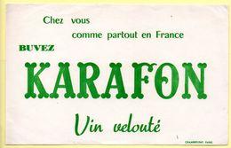 Buvard Vin Karafon, Vin Velouté - Buvards, Protège-cahiers Illustrés