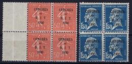 France : Yv Nr  264 + 265 BIT  3x MNH/** Sans Charnière  Postfrisch + 1 X MH/* Falz/ Charniere 1924 - France