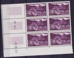Andorre AE Yv Nr 152 MNH/** Sans Charnière  Postfrisch 1957 Coin De Feuille - Poste Aérienne