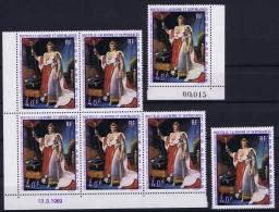 NOUVELLE-CALEDONIE  AE Yv Nr 108  7 X     MNH/** Sans Charnière  Postfrisch 1969 Coin De Feuille - Ungebraucht