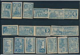 PARIS, Exposition Universelle De 1900 - 18 Vignettes Différentes, Ton Bleu - Erinnophilie