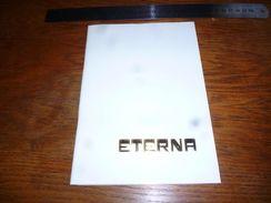 Folder  Publicitaire Horlogerie Montre Eterna 20 Pages A5 - Zonder Classificatie