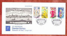 Gedenkumschlag, MiF Schauspielerinnen, SoSt Duesseldorf Dental-Schau 1977 (42169) - BRD