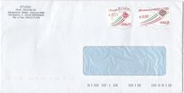 BUSTA VIAGGIATA - STUDIO DOTT. QUAGLIA - AMMINISTRAZ. STABILI - GESTIONE AFFITTI - BERGAMO - 6. 1946-.. Repubblica