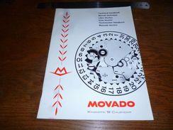 Folder Technique Publicitaire Horlogerie Montre  Manuel Technique Movado Kingmatic S Calendar - Bijoux & Horlogerie
