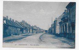 SISSONNE EN 1929 - N° 48 - RUE DE LAON - CPA VOYAGEE - Sissonne