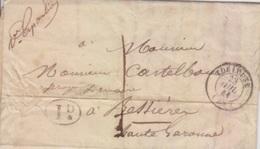 Lettre De Toulouse (T 15) Du 23 Juil 1841 Pour Bessières, Taxe 1 Décimes + 1D Rural Et Cursive La Pointe St Sulpice - Marcophilie (Lettres)