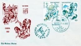 San Marino, EUROPA 1982, History, 1982, VFU  A Pair, FDC Cover - San Marino