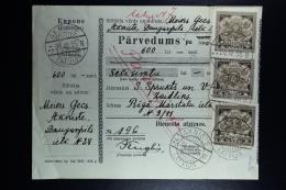 Latvia : Money Order 1935 Oknist Riga - Lettland