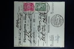Latvia : Money Order 1936 Wolmar Katrina - Lettland