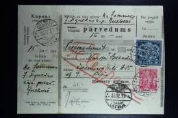Latvia : Money Order 1937 Schwanenburg Cesis - Lettland