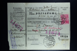 Latvia : Money Order 1936 Kalnzeem Riga - Lettland