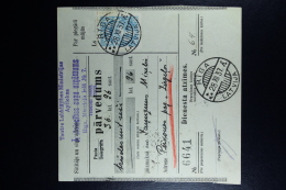Latvia : Money Order 1937 Riga Liepaja Perkone - Lettland