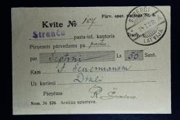 Latvia : Money Order Receipts 1928 Stackeln Dikli - Lettland