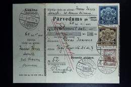 Latvia : Telegraphic Money Order 1935 Oknist Riga - Lettland