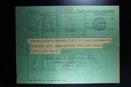 Latvia : Telegraphic Money Order 1931 Libau Talsen - Lettland