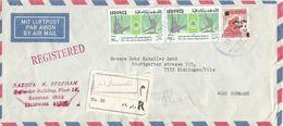 Iraq 1971 Al-Masarif Gymnastics Rings Horse Censored Registered Cover - Irak