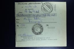 Latvia : Official Money Order 1924 Rositten Dunaburg - Lettland