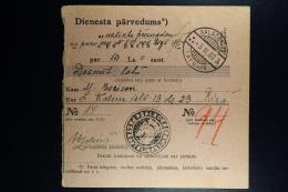 Latvia : Official Money Order 1930 Salismunde Riga - Lettland